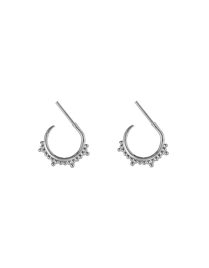 Oorbellen trendy lovely dots silver