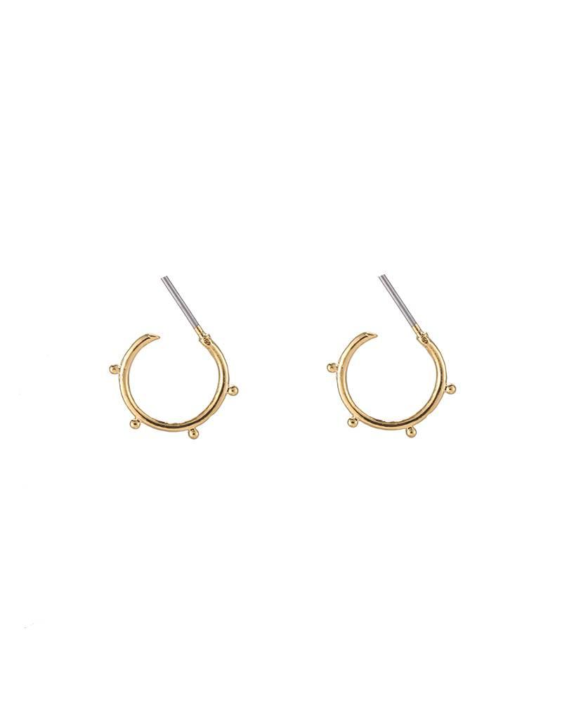 Oorbellen trendy tiny points gold