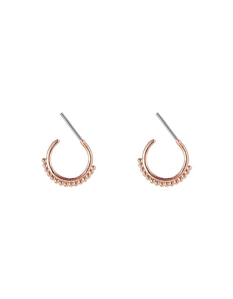 Oorbellen trendy dots copper