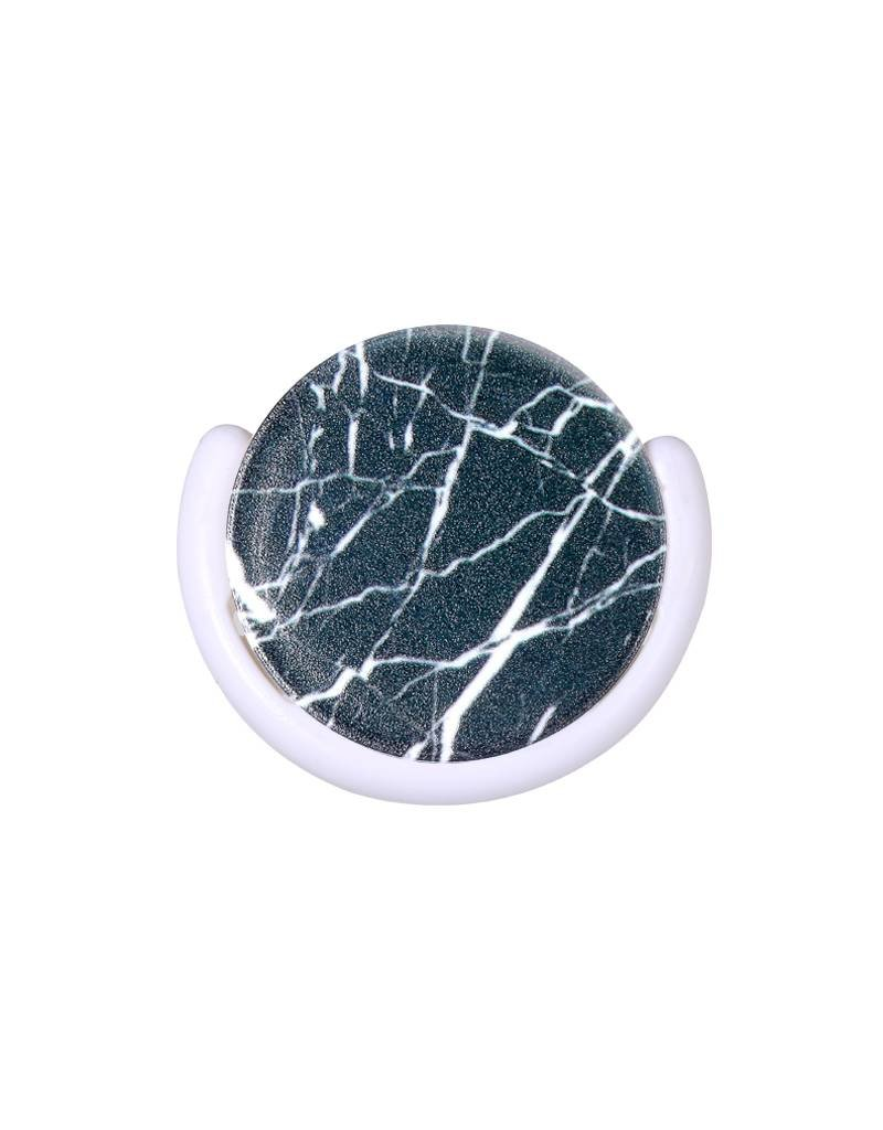Smartphone finger grip black marble