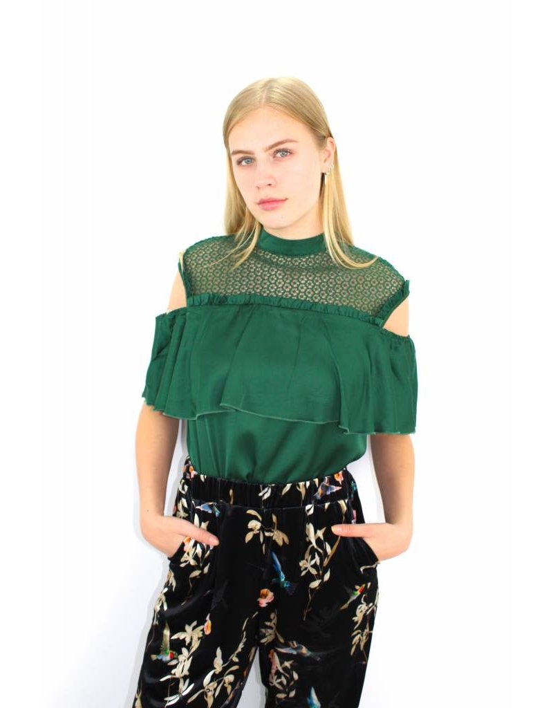 Green classy top 19607