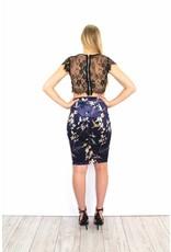 Purple flower skirt 4538LJ
