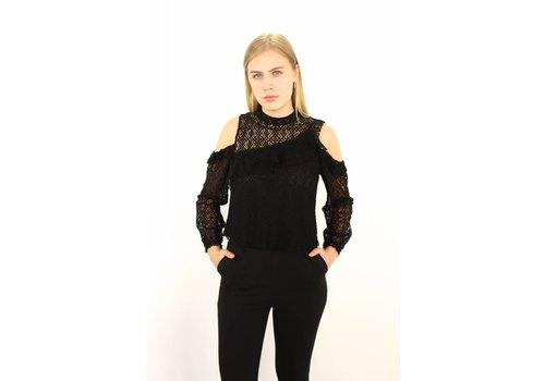 Black classy lace top