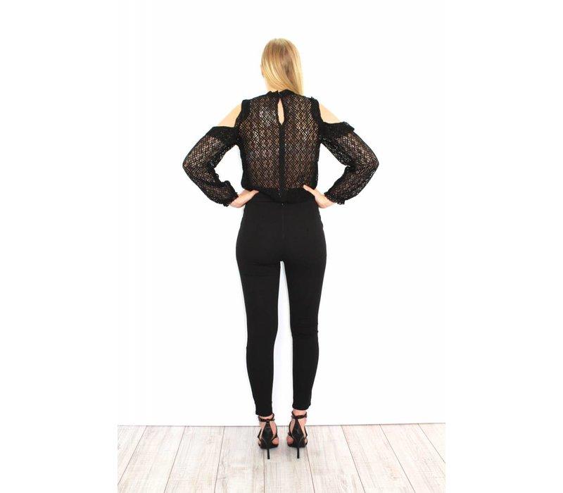 Black high waist pants 21705