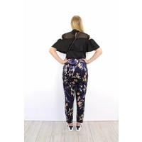 Purple velvet flower pants 4536AP