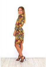Yellow flower dress S108