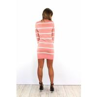 Pink striped dress 206