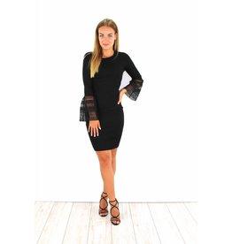 Cute black flared dress