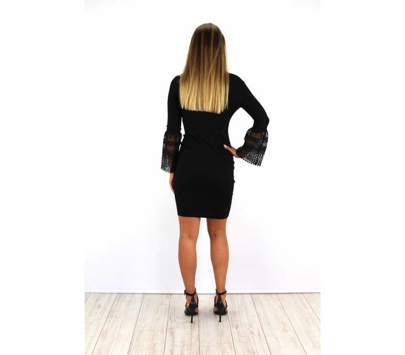 Cute black flared dress 6088
