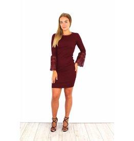 Cute bordeaux flared dress
