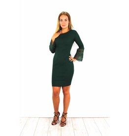 Cute green flared dress