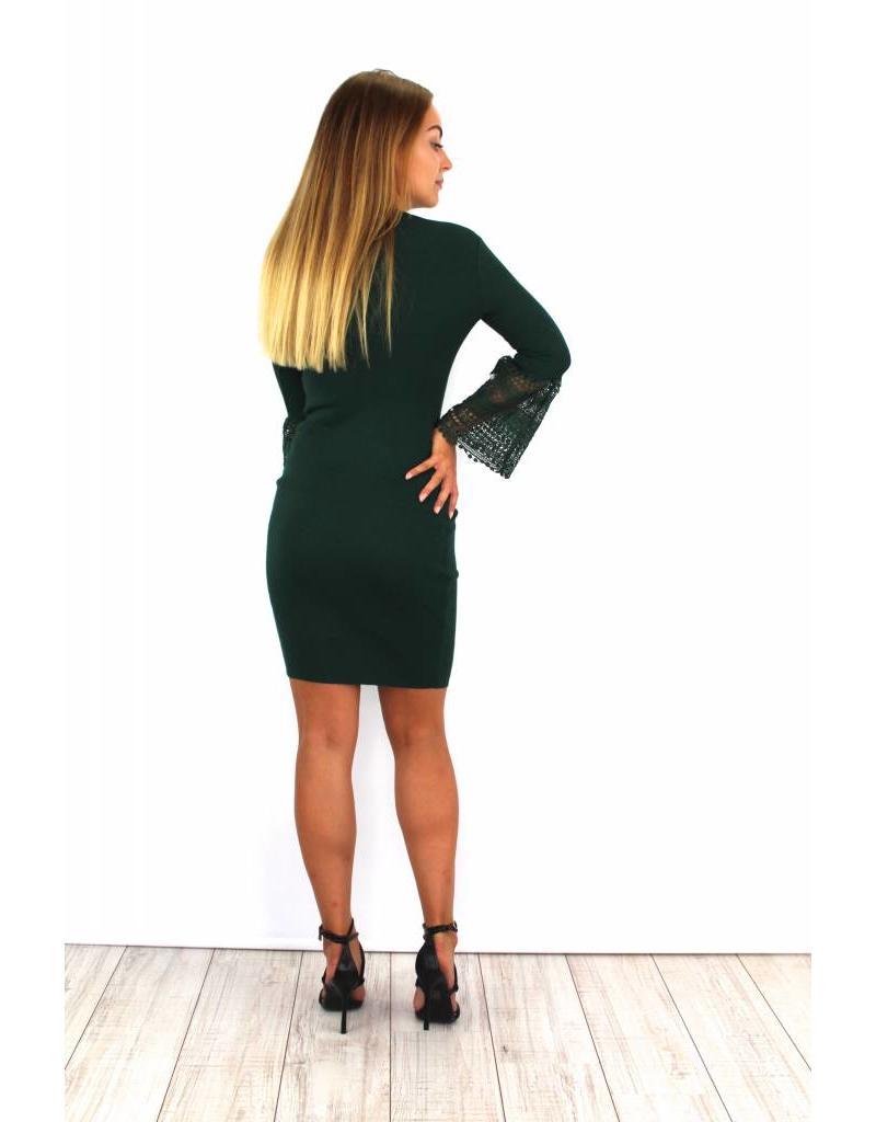 Cute green flared dress 6088