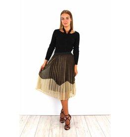 Golden party skirt