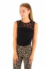 Black lace top E2147