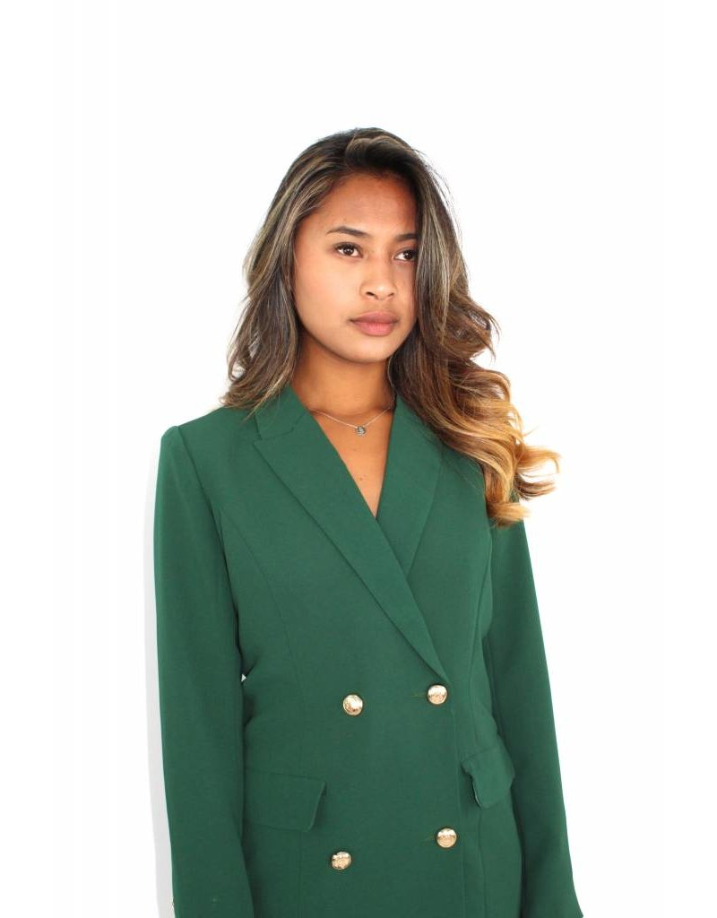 Green long blazer 19435
