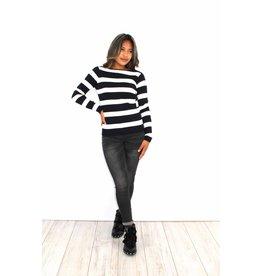 Black striped sweater