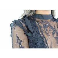 Black classy lace top 6261LT