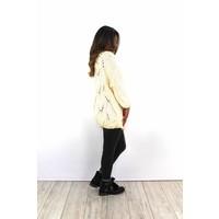 Ecru knitted vest 8765