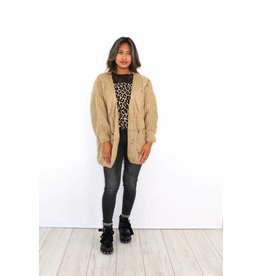 Taupe knitted vest