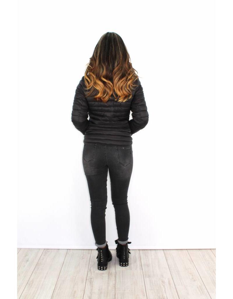 Black winter jacket DV-178-1