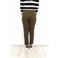 Green striped pants 9538