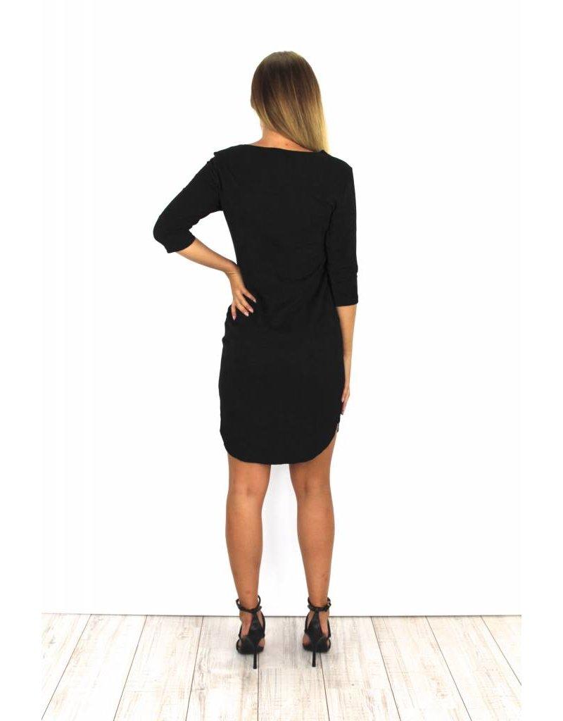 Black suede dress Y15101