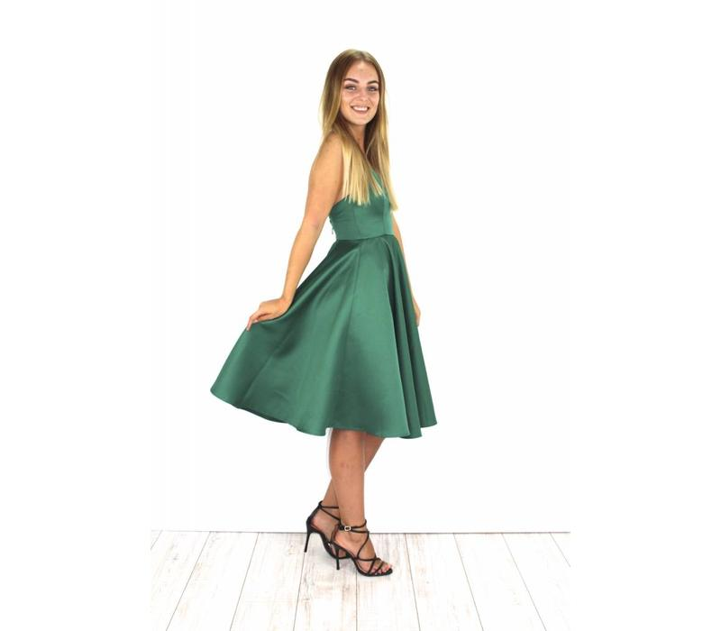 Green party dress H6028