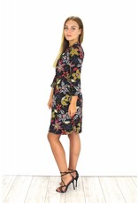 Black flower dress S108