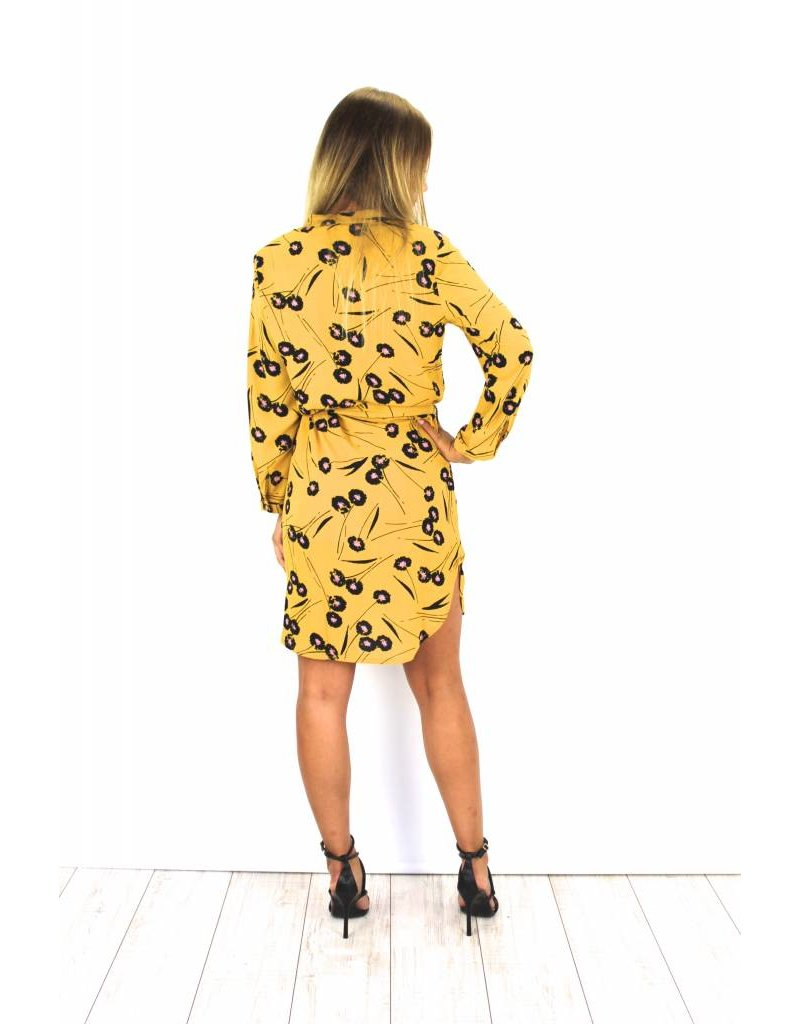 Yellow blouse dress S36