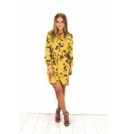 Yellow blouse dress