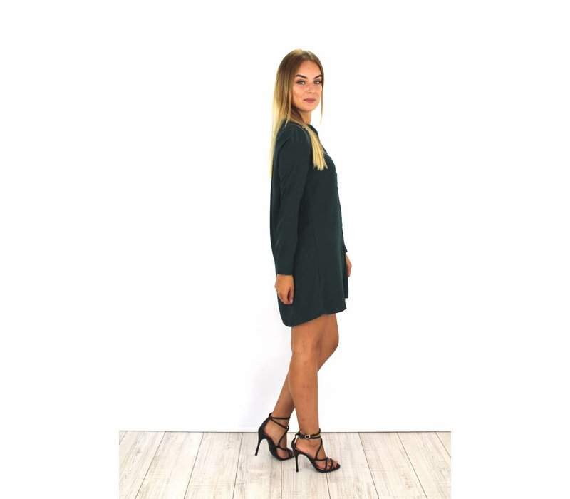 Green blouse dress 8204