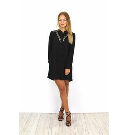 Black blouse dress