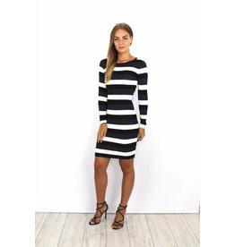 Striped dress glitter blue