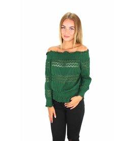 Green off shoulder