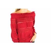 Red off shoulder MC4387
