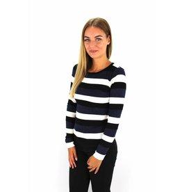 Striped sweater glitter blue