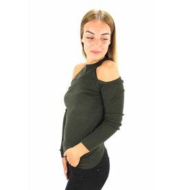 Green cold shoulder