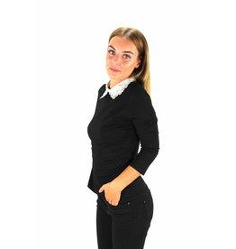 Black sweater collar