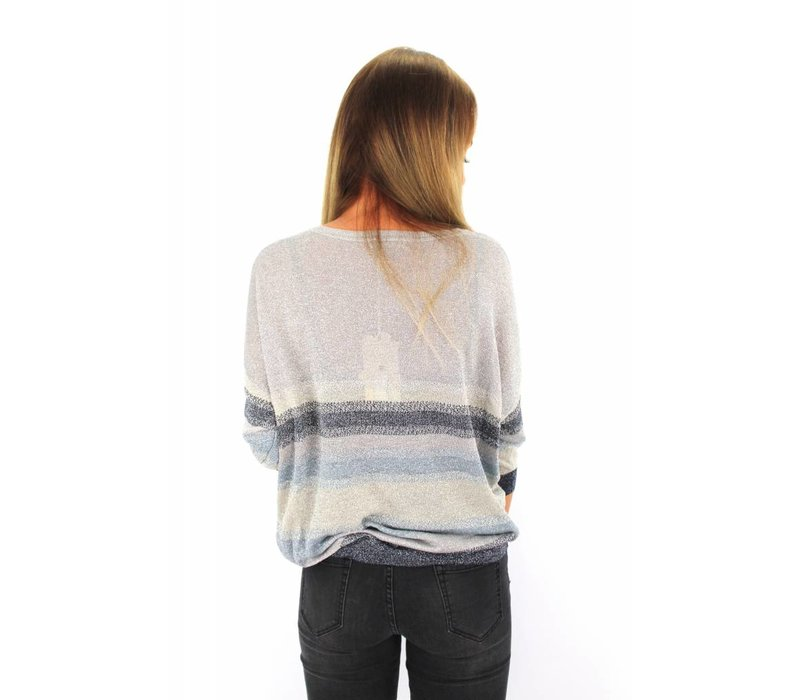 Glitter sweater deep blue