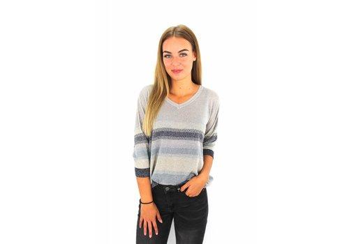Glitter sweater deep blue