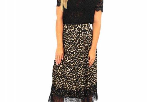 Elli White Long panter skirt