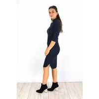 Marine classy suede dress 6211