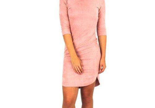 Lulu Love Rose suede dress