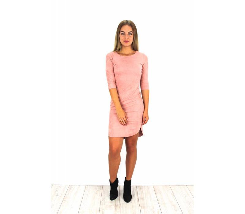 Rose suede dress 15101