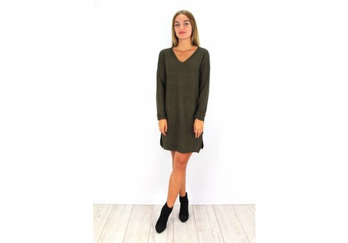 Kaki sweater dress