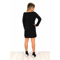 Black sweater dress P842