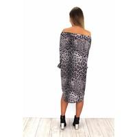 Grey panter dress