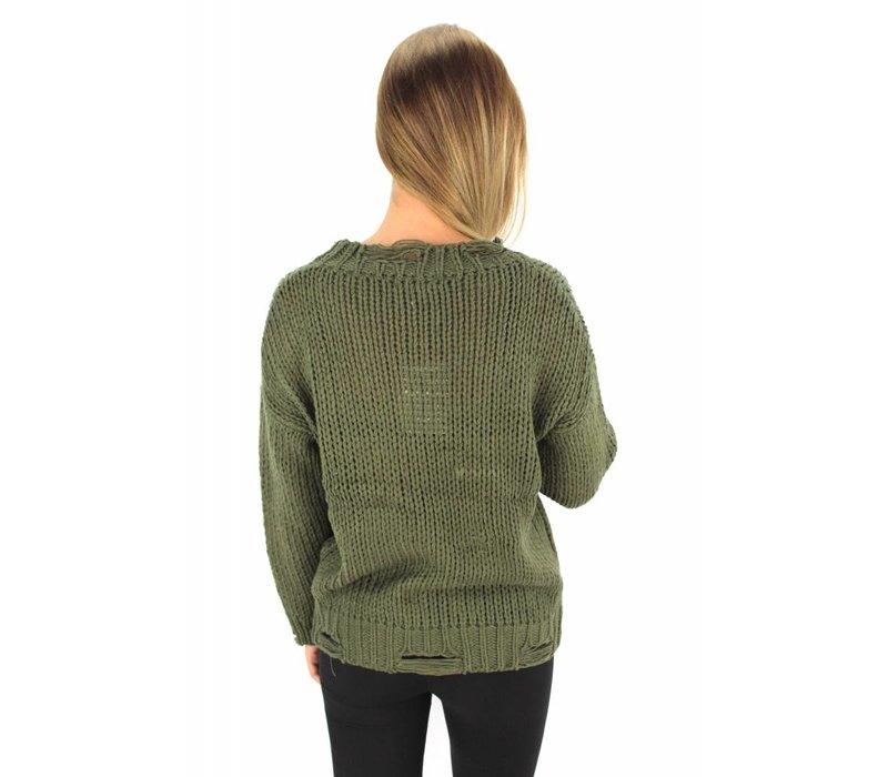 Green angel devil sweater MC4989