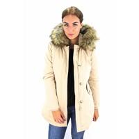 Beige winter jacket PK-6015-A
