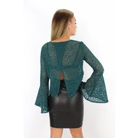 Green flared top EP15483